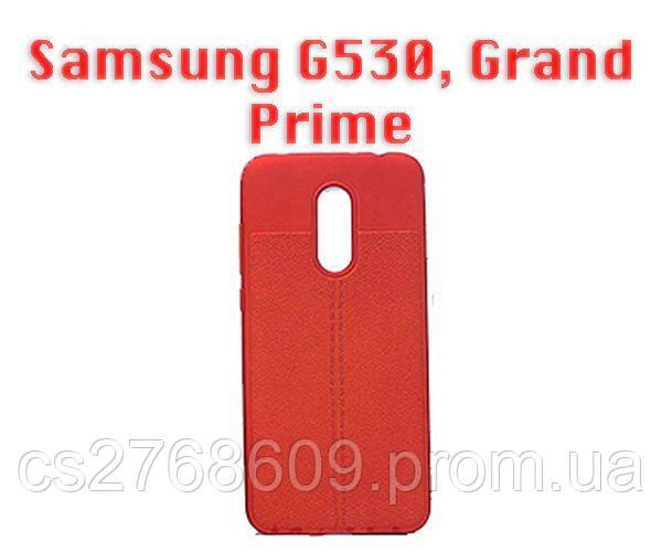 """Чехол силікон """"Шкіра"""" Samsung G530, G531, G532, J2 Prime червоний AUTO FOCUS"""