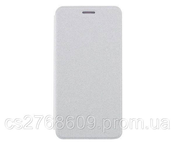 Чехол книжка Flip Cover Samsung S6, G920 білий з вікном