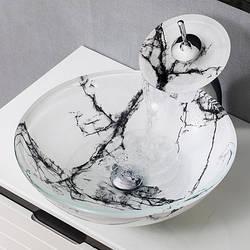 Круглая стеклянная раковина в ванную комнату. Модель RD-9069