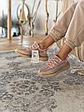 Женские кроссовки Adidas Yeezy Boost 350 в стиле адидас изи буст РОЗОВЫЕ РЕФЛЕКТИВ (Реплика ААА+), фото 5