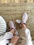 Женские кроссовки Adidas Yeezy Boost 350 в стиле адидас изи буст РОЗОВЫЕ РЕФЛЕКТИВ (Реплика ААА+), фото 6