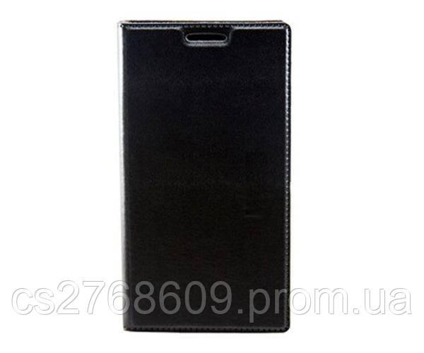 Чехол книжка Flip Cover Xiaomi Redmi Note 2 чорний з вікном