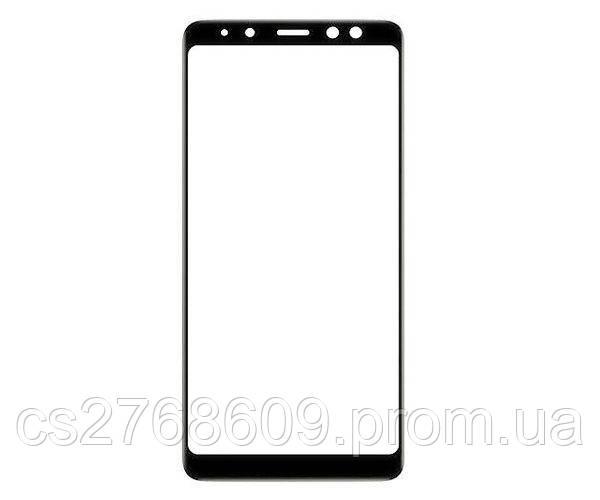 Защитное стекло захисне скло Samsung A730, A8 Plus 2018 чорний (тех.пак)