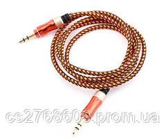 "AUX кабель ""Aspor"" AC-41 ткань (3.5мм/1,5м) (orange)"