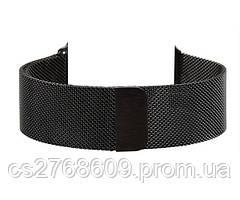 Браслет металевий Milanese Loop Apple Watch 38mm чорний