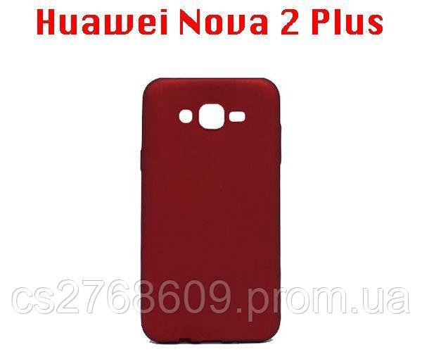 "Чехол силікон ""VIP"" Huawei Nova 2 Plus, BAC-L21 червоний"