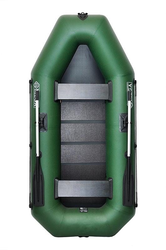Двухместная гребная надувная лодка Омега (OMEGA) Ω 260LS Поворотные уключины, слань