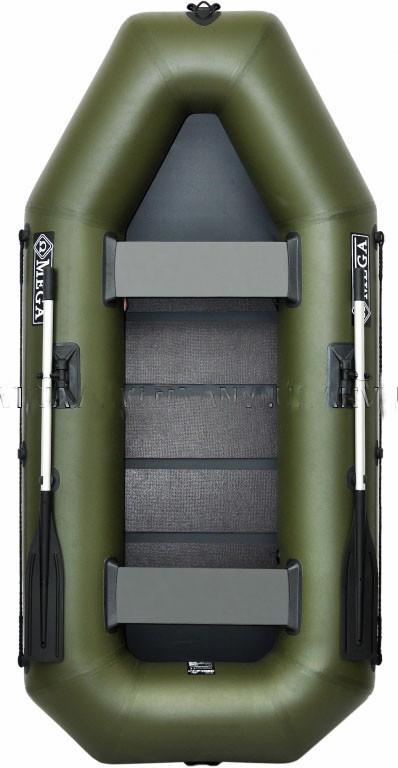 Трехместная надувная гребная лодка Омега (Omega) Ω 280LS, поворотные уключины, слань