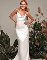 Женское вечернее шелковое платье