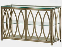 Столик туалетный, столешница стекло, каркас НЖ сталь. длинна 850мм, ширина 200-400мм, высота 900-1000мм
