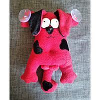 Мягкая игрушка Собачка на присосках в машину. Материал - флис. Ручная работа.