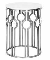 Круглий стіл, стільниця скло, каркас НЖ сталь. діаметр 1100мм, висота 750мм