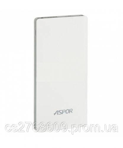 """PowerBank """"Aspor"""" A341 10000 mah IQ (2USB/1A+2.1A) (white-gray)"""