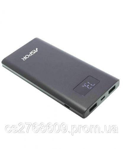 "PowerBank ""Aspor"" A387S 10000 mah IQ (Iphone input 2USB/2.4A+2.4A) metal (black)"