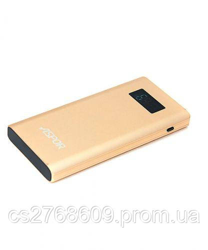 "PowerBank ""Aspor"" Q388 10000 mah (Qualcomm 3.0 2USB/2.4A+3A) metal (gold)"
