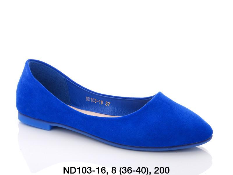 Балетки женские синие  Teetspace-Trasta-Egga-ND103-16