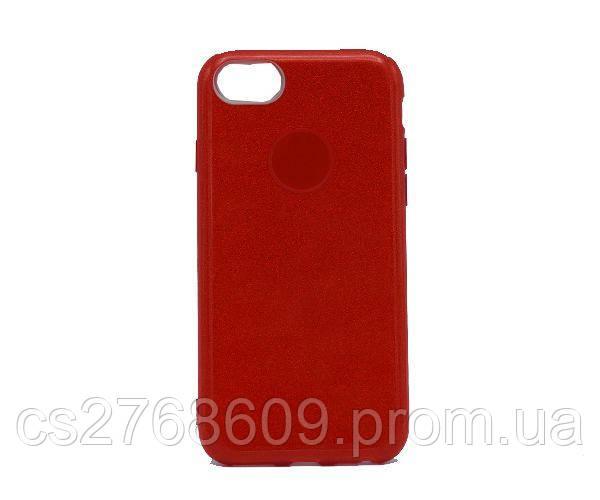 Чехол силікон Бльостки iPhone 7, iPhone 8 червоний