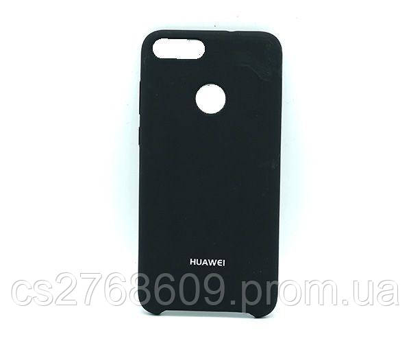 "Чехол силікон ""Silicone Case Original"" Huawei P Smart, FIG-LX1, Huawei Enjoy 7S чорний"