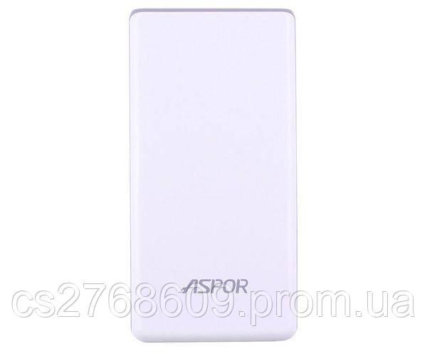 """PowerBank """"Aspor"""" A325 5000 mah IQ (2USB/1A+2.0A) (white)"""