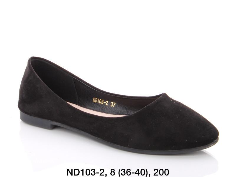 Балетки женские черные Teetspace-Trasta-Egga-ND103-2