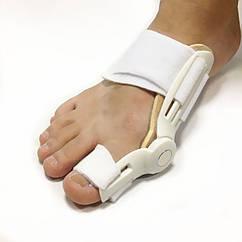 Бандаж-шина с шарниром при вальгусной деформации от косточки на ноге. Правая