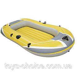 Надувная лодка BestWay 61064 Hydro-Force Raft, полуторная, размер 228х121х36 см. Желтая PS