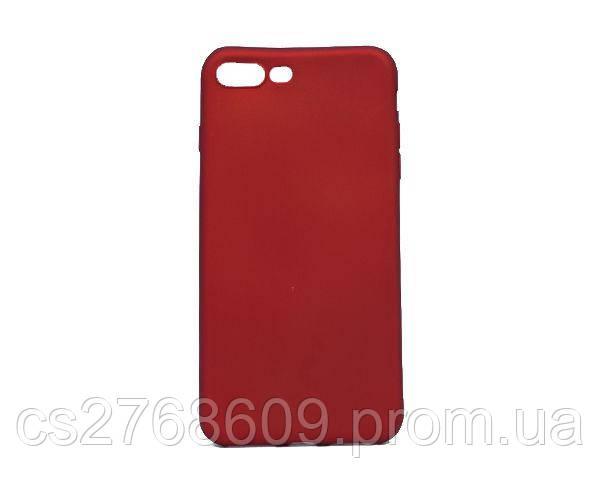 """Чехол силікон """"VIP"""" iPhone 7 Plus, iPhone 8 Plus червоний"""