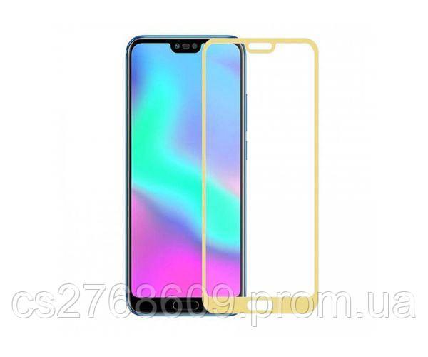 Защитное стекло захисне скло Huawei Honor 10, COL-L29 золотий (тех.пак)