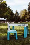 Столик со стульчиком Tega Baby MULTIFUN Тега Мультифан, бирюзовый, фото 2