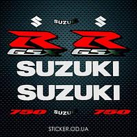 Набор наклеек Suzuki gsx-r 750 2006-2007, наклейки на мотоцикл.