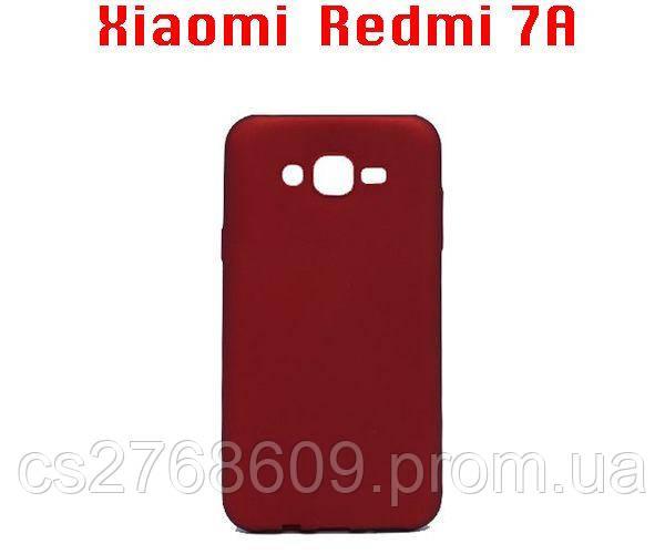 """Чехол силікон """"VIP"""" Xiaomi Redmi 7A червоний"""