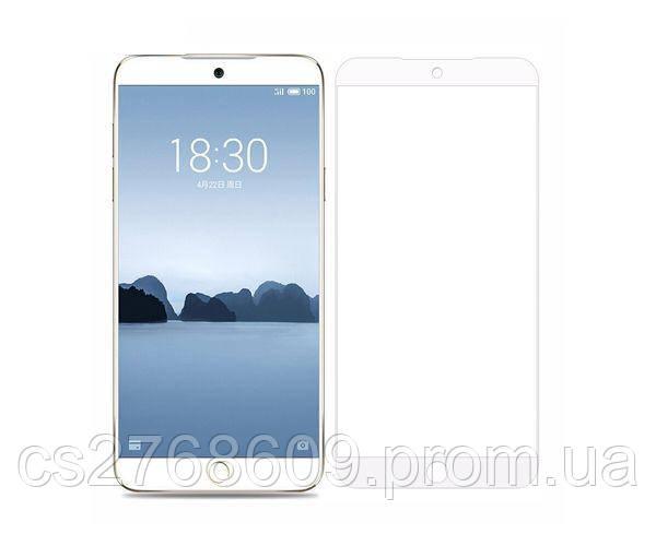 Защитное стекло захисне скло Meizu 15 Lite, M15 Lite білий (тех.пак)