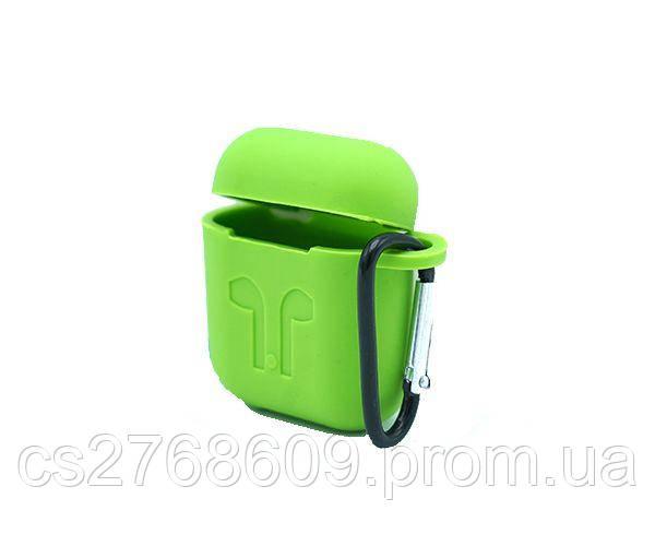 Чехол чохол силікон Air Pods (зелений)