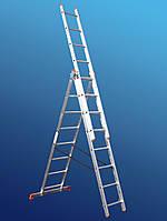 Лестница алюминиевая трехсекционная STS 3х7, фото 1