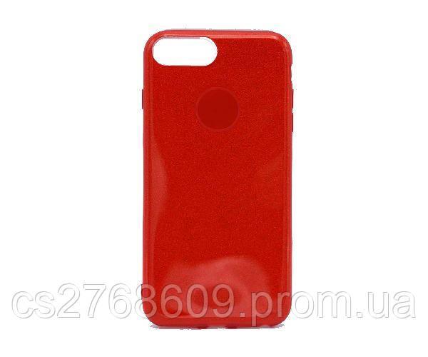 Чехол силікон Бльостки iPhone 6 Plus червоний