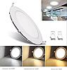 Светодиодный встраиваемый светильник круг 3W Slim-3 Horoz 4200K, фото 2