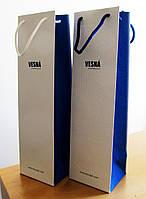 Пакет подарочный брендированный под бутылку