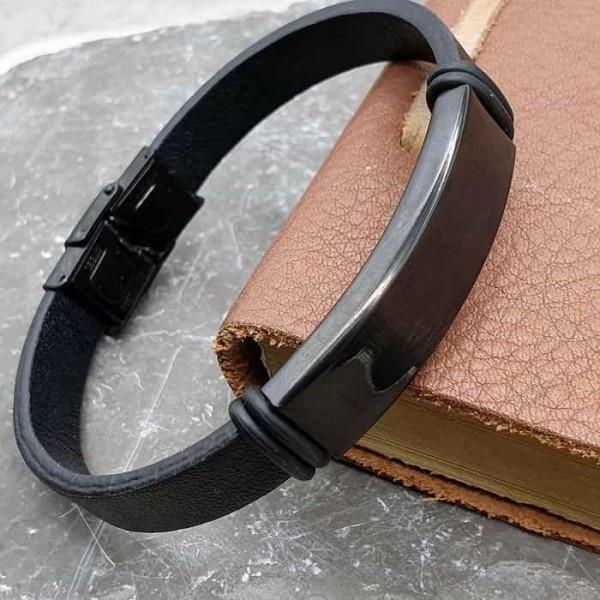 Кожаный браслет на руку для индивидуальной гравировки 176090