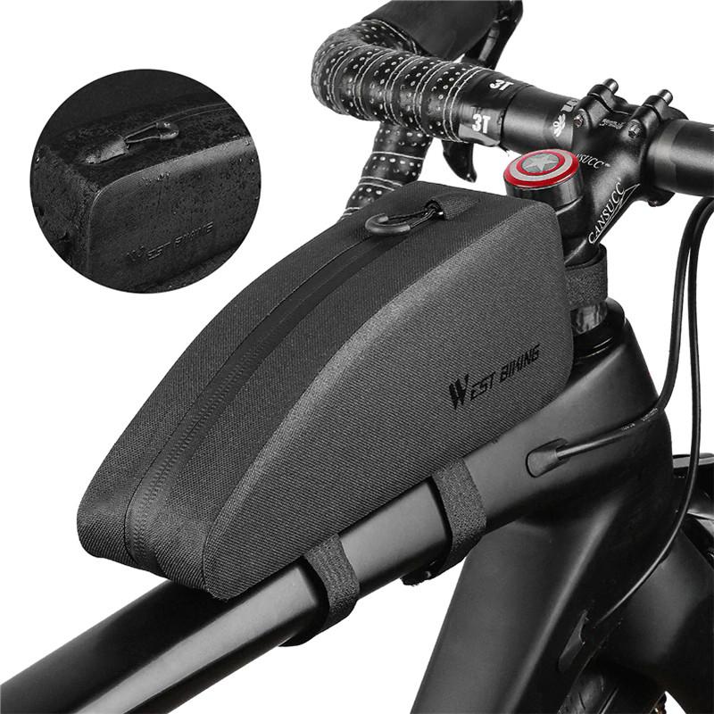 Велосипедная сумка на раму West Biking 0707212 Black горизонтальная