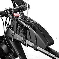 Велосипедная сумка на раму West Biking 0707212 Black горизонтальная, фото 4