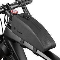 Велосипедная сумка на раму West Biking 0707212 Black горизонтальная, фото 6