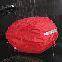 Багажник под седло West Biking 0707151 Black + Blue для велосипеда с отражателями + чехол, фото 7