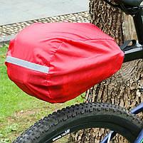 Багажник под седло West Biking 0707151 Black + Blue для велосипеда с отражателями + чехол, фото 6