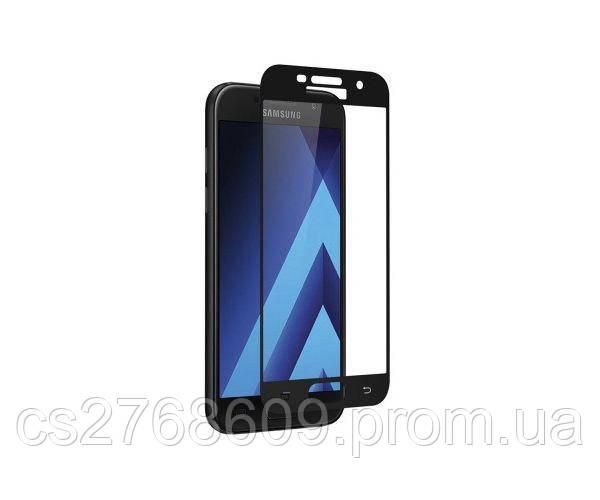 Защитное стекло захисне скло Samsung A720, A7 2017 чорний 6D Full