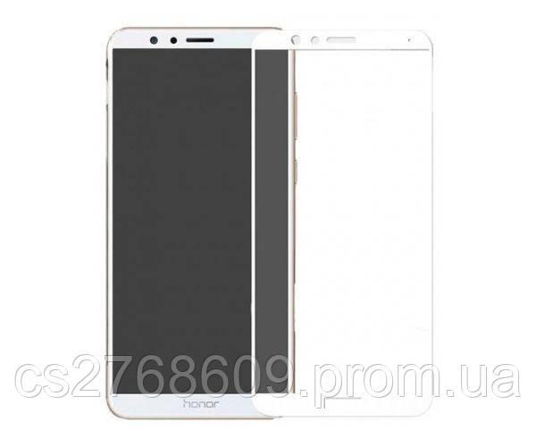 Защитное стекло захисне скло Huawei Honor 7x, BND-L21 білий 6D Full