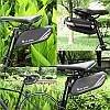 Велосумка West Biking 0707219 0.7L Black под седло с отражателями горизонтальная, фото 4