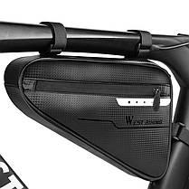 Велосумка под раму West Biking 0707220 4L Black треугольная для инструментов, фото 2