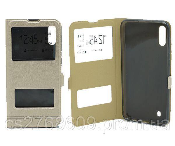 Чехол книжка Flip QYS Samsung M105, M10 2019 золотий