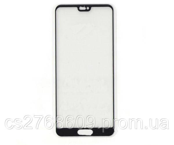 Защитное стекло захисне скло Huawei P20, EML-L29 чорний 5D (тех.пак)