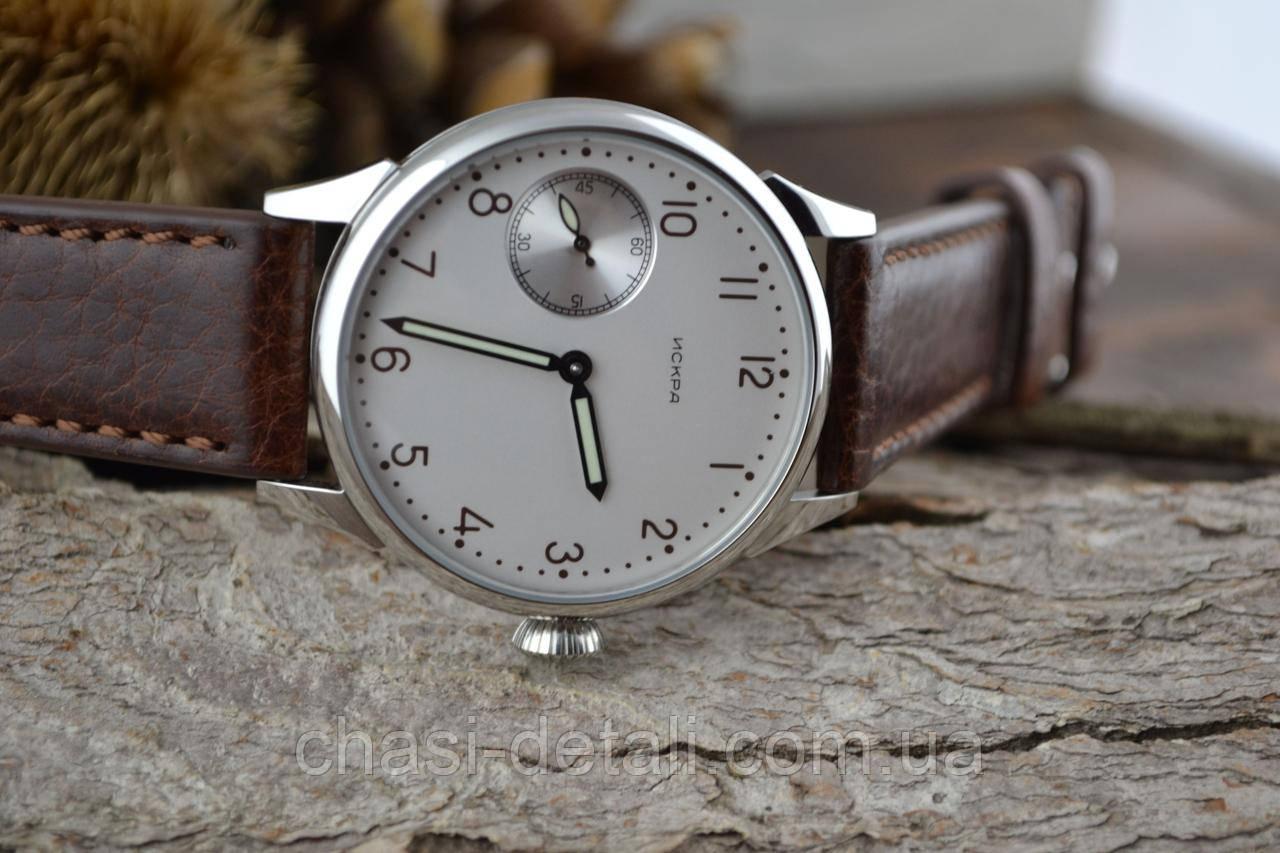 Часы Искра, наручные. Механизм советский, от карманных часов, 3602